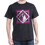 Harlequin Great Dane design Dark T-Shirt