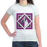 Harlequin Great Dane design Jr. Ringer T-Shirt