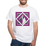 Harlequin Great Dane design White T-Shirt