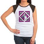 Harlequin Great Dane design Women's Cap Sleeve T-S