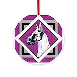 Harlequin Great Dane design Ornament (Round)