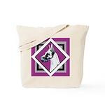 Harlequin Great Dane design Tote Bag