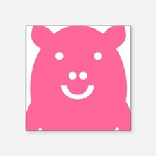 "Happy pig Square Sticker 3"" x 3"""