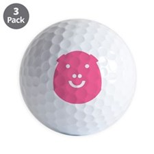 Happy pig Golf Ball