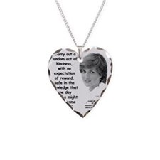 Diana Kindness Quote 3 Necklace