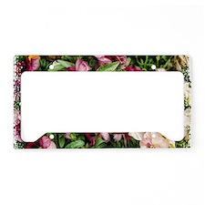 black rose pansies License Plate Holder