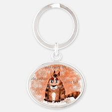 A Little Cathair Oval Keychain