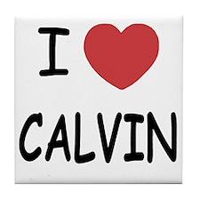I heart CALVIN Tile Coaster