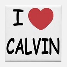I heart CALVIN Tile Coaster