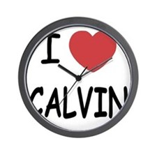 I heart CALVIN Wall Clock