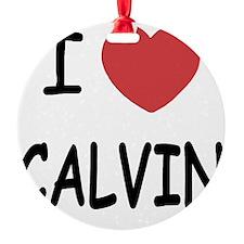 I heart CALVIN Ornament