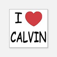 """I heart CALVIN Square Sticker 3"""" x 3"""""""