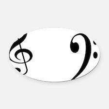 musical symbols Oval Car Magnet
