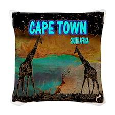 cape town africa Woven Throw Pillow