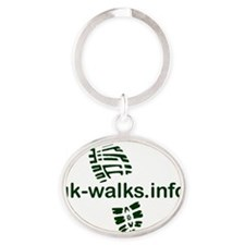 uk-walks logo Oval Keychain