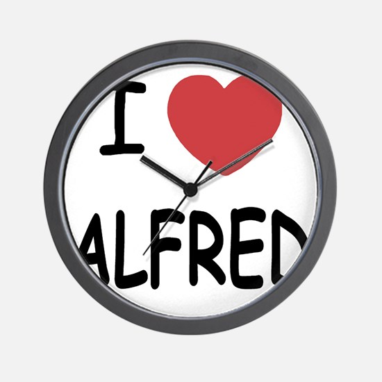 I heart ALFRED Wall Clock