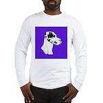 Down Ear Harlequin Great Dane Long Sleeve T-Shirt