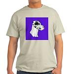 Down Ear Harlequin Great Dane Light T-Shirt