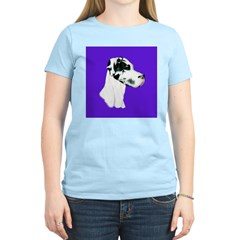 Down Ear Harlequin Great Dane T-Shirt