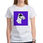 Down Ear Harlequin Great Dane Women's T-Shirt