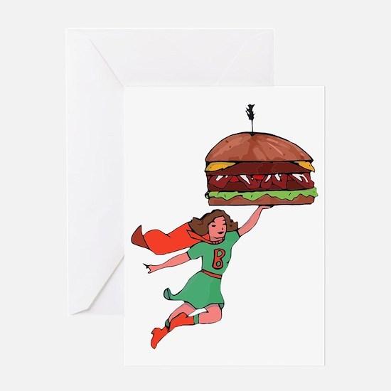 Burger Babe Greeting Card