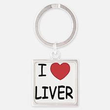 I heart liver Square Keychain