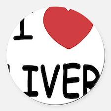 I heart liver Round Car Magnet