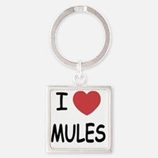 I heart mules Square Keychain