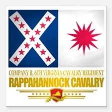 "Rappahannock Cavalry Square Car Magnet 3"" x 3"""