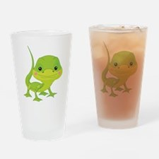 Cute Baby Lizard Drinking Glass