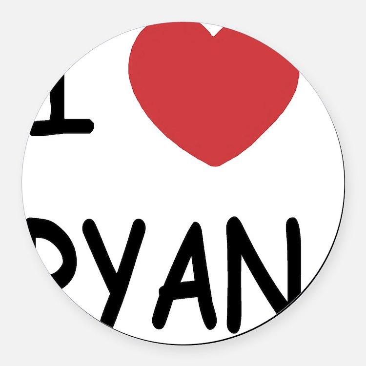 I heart RYAN Round Car Magnet