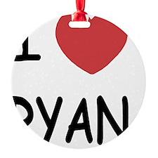 I heart RYAN Ornament