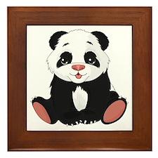 Cute Little Panda Framed Tile