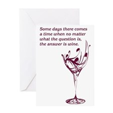 The answer is wine Greeting Card