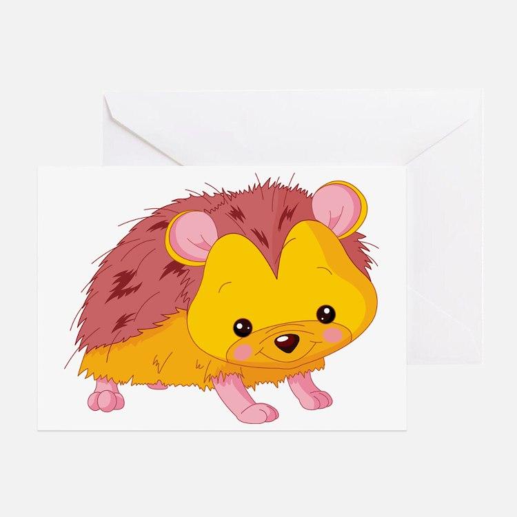 Cute Baby Hedgehog Greeting Card