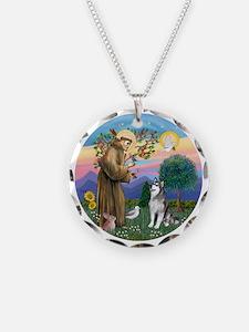 St. Francis-AlaskanMalamute Necklace