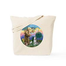 St. Francis-AlaskanMalamute Tote Bag