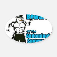 Abdominal Snowman Oval Car Magnet