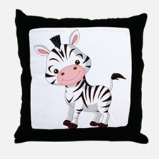 Cute Baby Zebra Throw Pillow