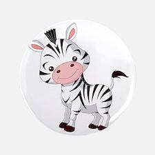 "Cute Baby Zebra 3.5"" Button"