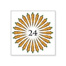 "24 Carrots Square Sticker 3"" x 3"""