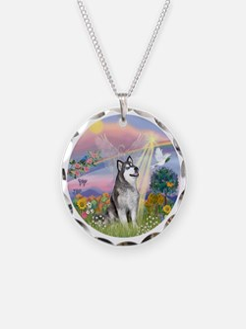 Cloud Angel-Alaskan Malamute Necklace