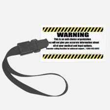 WARNING Sticker Luggage Tag
