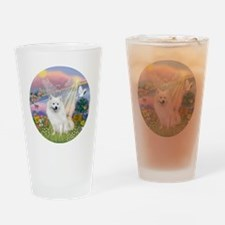 American Eskimo Dog Drinking Glass