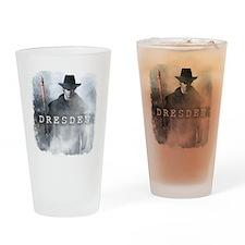 White Night shirt Drinking Glass
