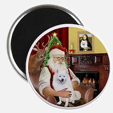 Santas American Eskimo Spitz Magnet