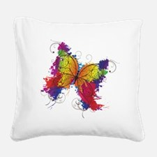 Colorful Butterfly Square Canvas Pillow