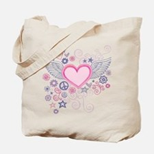 Winged Heart Tote Bag