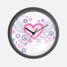 Winged Heart Wall Clock