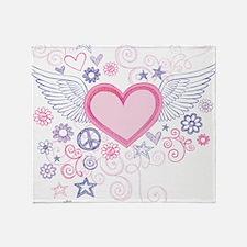 Winged Heart Throw Blanket